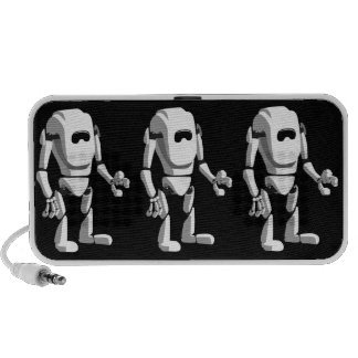 cute robot laptop speakers