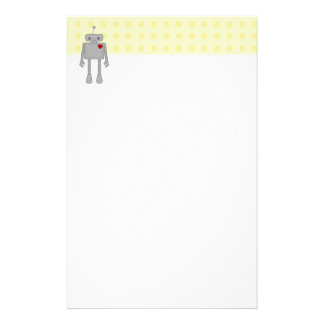 Cute Robot Stationery Design