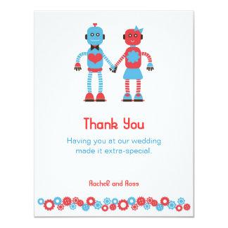 Cute Robot Theme Wedding Card