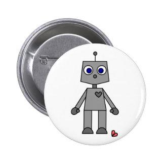 Cute Robot With A Broken Heart Pin