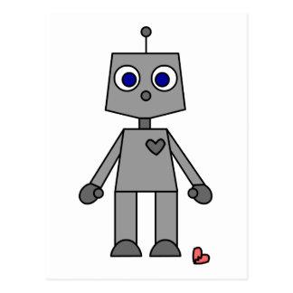 Cute Robot With A Broken Heart Postcard