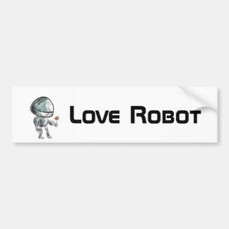 Cute Robot with a flower Bumper Sticker