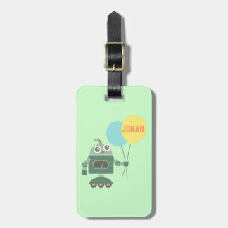 Cute Robot with Balloons for kids Luggage Tag