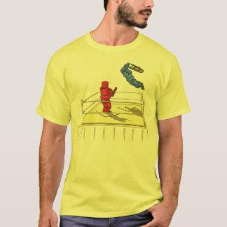 Cute Robot Wrestling Cartoon T-Shirt