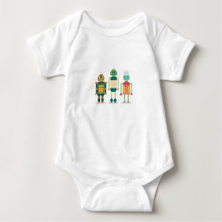 Cute robots, unique design for tech savvy kids! baby bodysuit