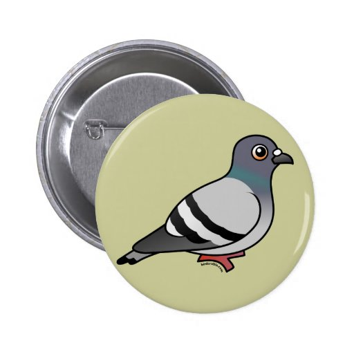 Cute Rock Pigeon Pin