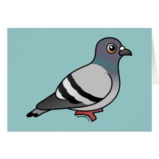 Cute Rock Pigeon Card