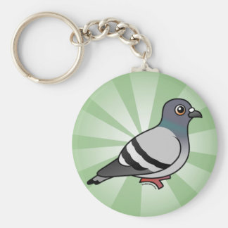 Cute Rock Pigeon Key Ring