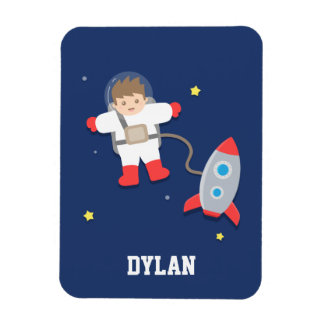 Cute Rocket Ship Outer Space Astronaut For Kids Flexible Magnet