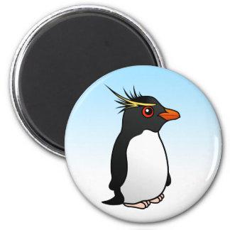 Cute Rockhopper Penguin 6 Cm Round Magnet