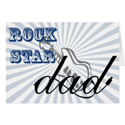 cute rockstar Dad, Father's Day greetings Greeting Card