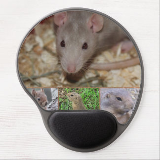 cute rodents gel mouse pad