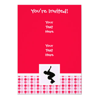 Cute Rollerblading 5x7 Paper Invitation Card