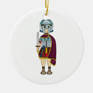 Cute Roman Gladiator Ornament