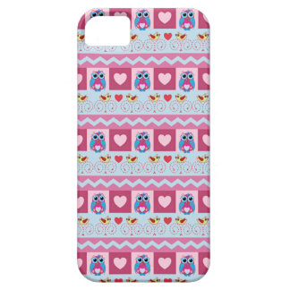Cute romantic case with love birds, hearts & owls iPhone 5 case