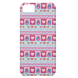 Cute romantic case with love birds hearts owls iPhone 5C covers
