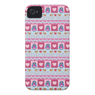 Cute romantic case with love birds hearts owls iPhone 4 cases