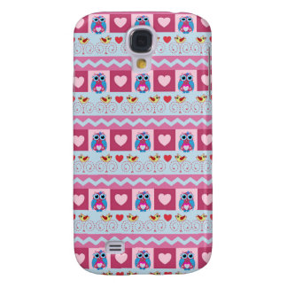 Cute romantic case with love birds hearts owls samsung galaxy s4 covers