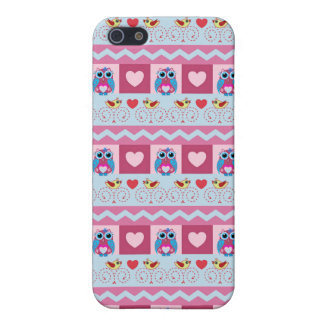 Cute romantic case with love birds hearts owls iPhone 5 covers