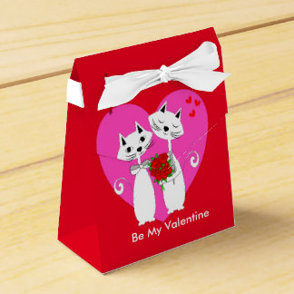 Cute Romantic Cats Valentines Day Themed Favour Box