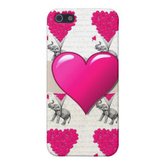 cute romantic pink elephant cover for iPhone 5/5S