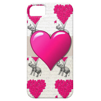 cute romantic pink elephant iPhone 5 cover