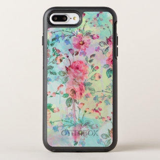 Cute romantic roses floral paint watercolors OtterBox symmetry iPhone 7 plus case