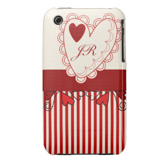Cute Romantic Valentine Heart & Text iPhone 3 Cover