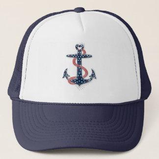 Cute romantic valentines hearts anchor trucker hat