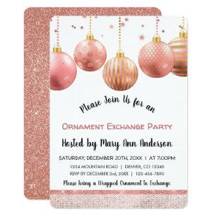 ornament exchange party invitations announcements zazzle uk