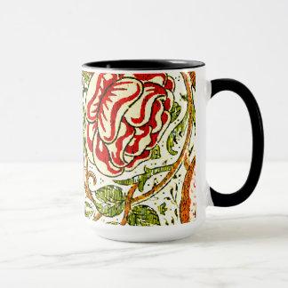 Cute Roses Vintage William Morris Wallpaper Mug