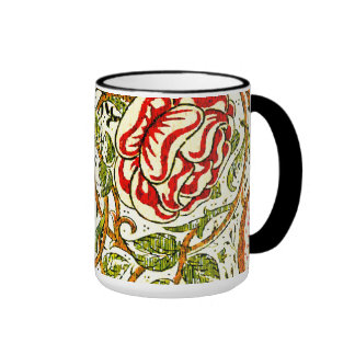 Cute Roses Vintage William Morris Wallpaper Coffee Mug