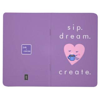 Cute Rosy Coffee Heart (sip dream create) Journal