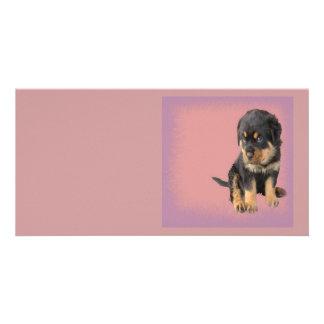 Cute Rottweiler Birthday Photo Greeting Card