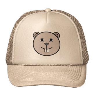 Cute Round Cartoon Bear Face Hats
