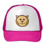 Cute Round Cartoon Lion Face Mesh Hats