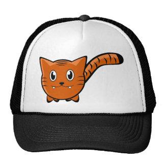 Cute Round Cartoon Tiger Trucker Hats