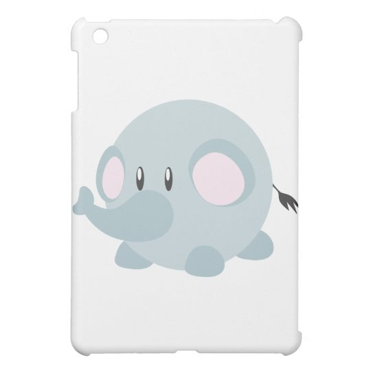 Cute Round Elephant iPad Mini Cases