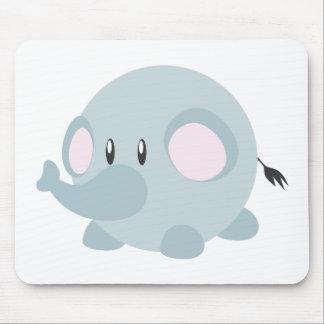 Cute Round Elephant Mousepads