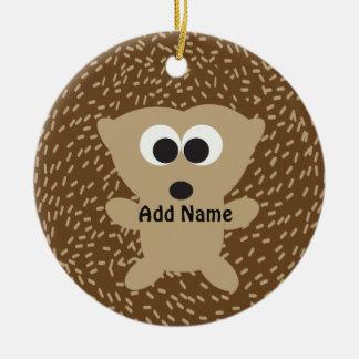 Cute Round Hedgehog Round Ceramic Decoration