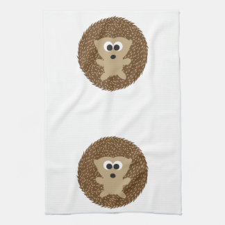 Cute Round Hedgehog Tea Towel