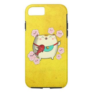 Cute Round Maneki Neko Cat iPhone 7 Case