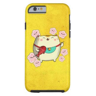 Cute Round Maneki Neko Cat Tough iPhone 6 Case
