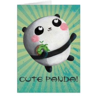 Cute Round Panda Greeting Card