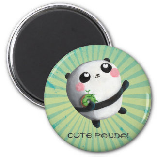 Cute Round Panda Magnet