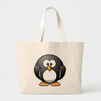 Cute Round Penguin Designs Large Tote Bag