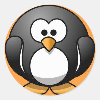 Cute Round Penguin Designs Round Sticker