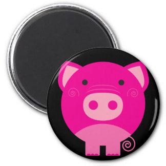 Cute Round Pig Cartoon Fridge Magnet