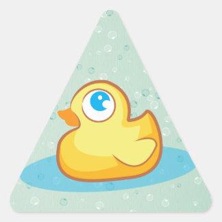 Cute rubber duck with bubbles sticker