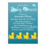 Cute Rubber Ducky Baby Shower 13 Cm X 18 Cm Invitation Card